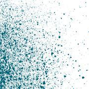 Blue light Ink paint splatter on white background. Spray paint abstract Stock Illustration