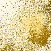Vector gold paint splash, splatter, and blob on white background. Spray stain Stock Illustration
