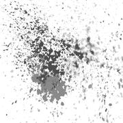 Vector silver paint splash, splatter, and blob shiny on white background. - stock illustration