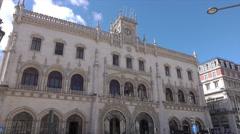 Lisbon Rossio railway station, Portugal Stock Footage