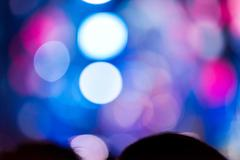 Defocused entertainment concert lighting on stage, blurred disco party., blur Stock Photos