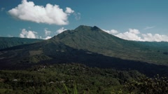 Mount Batur volcano view up close Stock Footage