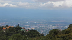 4K Timelape Chiang mai on view point of doi suthep , Chiang mai ,Thailand. Stock Footage