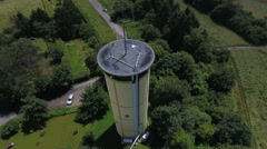 Water tower Wiesbaden Stock Footage