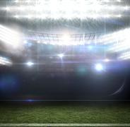 American football arena - stock illustration