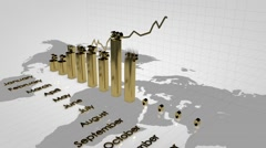 Growing charts. Financial diagrams. Stock Footage