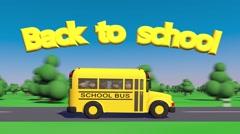Back To School. School bus. - stock footage