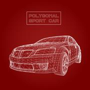 Abstract Creative concept vector background of 3d car model. Sports car Stock Illustration