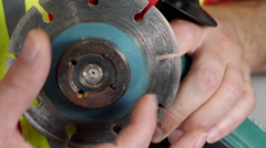 Industrial Tightening Nut on Tile Cutter Stock Footage