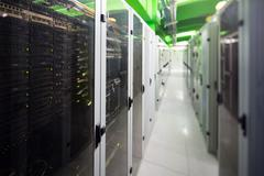 Server room with tower Stock Photos