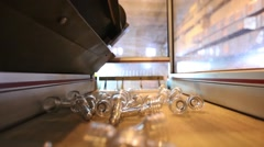 Production line of mineral water and carbonated drinks. Plastic packaging Stock Footage