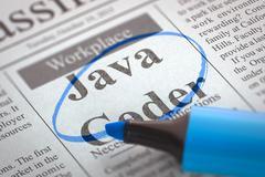 Now Hiring Java Coder - stock illustration