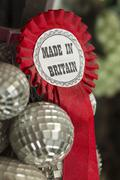 Red Ribbon Marked Made In Britain Stock Photos