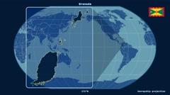 Grenada - 3D tube zoom (Kavrayskiy VII projection). Solids Stock Footage