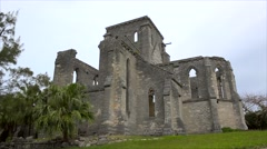 Unfinished old Church in the St. George's Town, Bermuda. Stock Footage