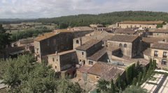 Aerial Peratallada general traveling Stock Footage