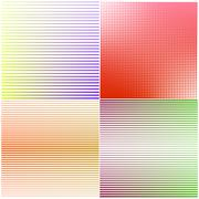 A set of abstract backgrounds, vector illustration. Stock Illustration