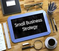 Small Business Strategy on Chalkboard Stock Illustration
