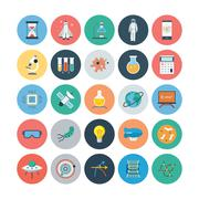 Science and Technology Icons Stock Illustration