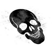 Healthcare concept: Scull on Digital background - stock illustration