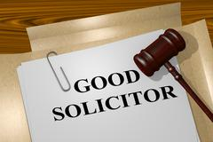 Good Solicitor legal concept - stock illustration