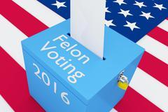 Felon Voting 2016 election concept - stock illustration