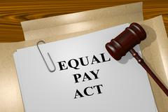 Equal Pay Act legal concept Stock Illustration