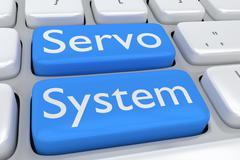 Servo System concept Stock Illustration