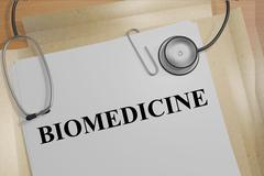 Biomedicine medical concept - stock illustration