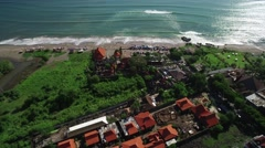 Beautiful Static 4K Aerial Drone footage of Batu Balong Bali Indonesia Stock Footage