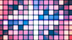 Broadcast Twinkling Hi-Tech Cubes, Multi Color, Abstract, Loopable, 4K Stock Footage