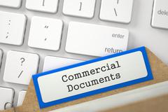 Folder Index with Inscription Commercial Documents Stock Illustration