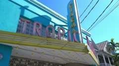 Old style Tropic cinema on Key West - stock footage