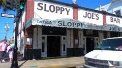 Famous Sloppy Joes Bar in Key West - stock footage