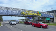 Daytona Beach Welcome sign by day Stock Footage