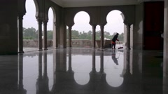 Workers Mopping The Wet Floor Stock Footage