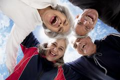 Portrait of old people enjoying Stock Photos