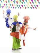 Sikh men enjoying themselves Stock Photos