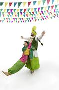 Sikh couple enjoying themselves Stock Photos