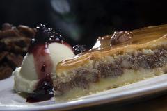 Apple pie with ice cream Stock Photos