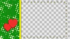 Wedding frame, transparent background, alpha channel, loop Stock Footage