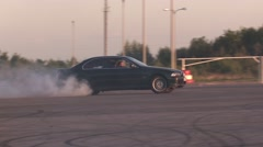 Drift in the arena by car Stock Footage