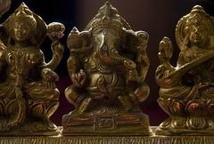 Ganesh , Lakshmi and Saraswati idol Stock Photos