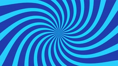 radial swirl rising sun vortex motion background loop blue - stock footage