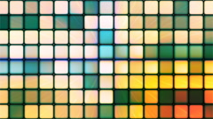 Broadcast Twinkling Hi-Tech Cubes, Green, Abstract, Loopable, 4K Stock Footage