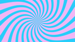 radial swirl rising sun vortex motion background loop pink blue - stock footage