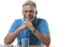 Portrait of an old man smiling Stock Photos