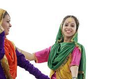 Sikh women dancing Stock Photos