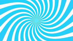 radial swirl rising sun vortex motion background loop blue and white - stock footage