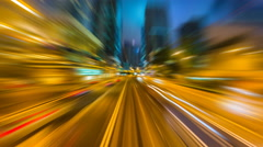 Time Lapse Tram Fast Speed Movement In City Of Hong Kong (forward, loop) Stock Footage